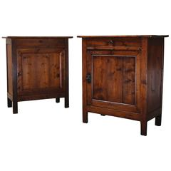 Pair of 19th Century Rustic French Confiture Cabinets