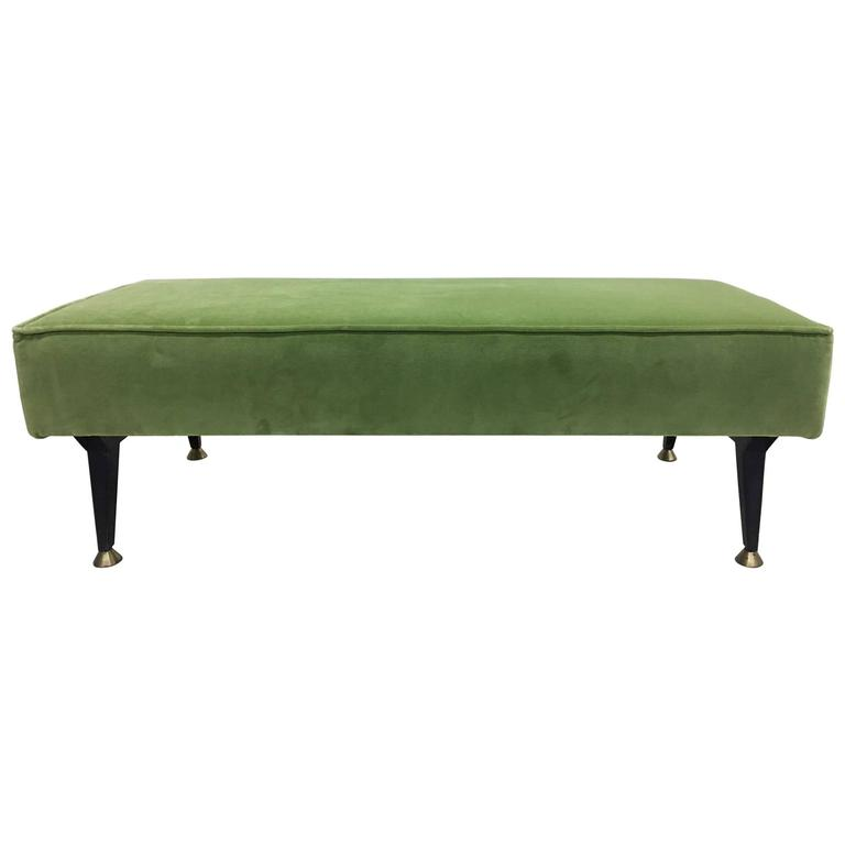 Italian Mid-Century Modern Bench in the Style of Osvaldo Borsani