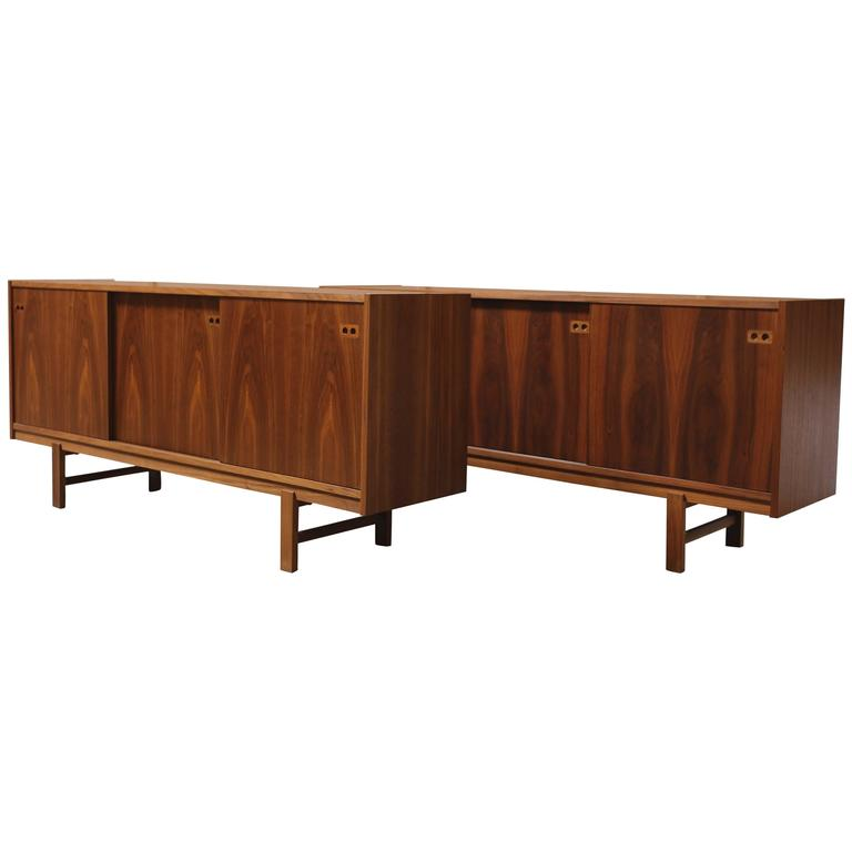 Danish Modern Three-Door Credenza