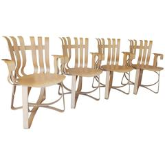 Frank Gehry Set of Four Knoll Chairs, 1994