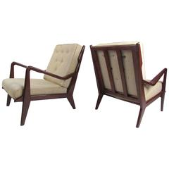 Pair of Contemporary Modern Sculptural Lounge Chairs