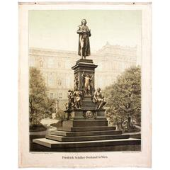 Wall Chart, Friedrich Schiller Monument in Vienna, 1899