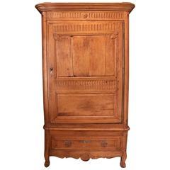 Antique French 18th Century Period Louis XVI Pine Bonnetiere