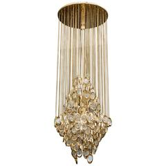 Nice Fall Sciolari Chandelier with Chains and Glass Lenses
