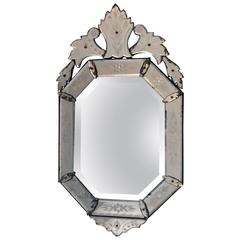 Venetian Glass Bevelled Mirror, circa 1920