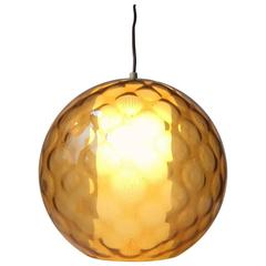 Spherical Optical Glass Pendant Lamp, Wilhelm Wagenfeld, Peill & Putzler, 1950s
