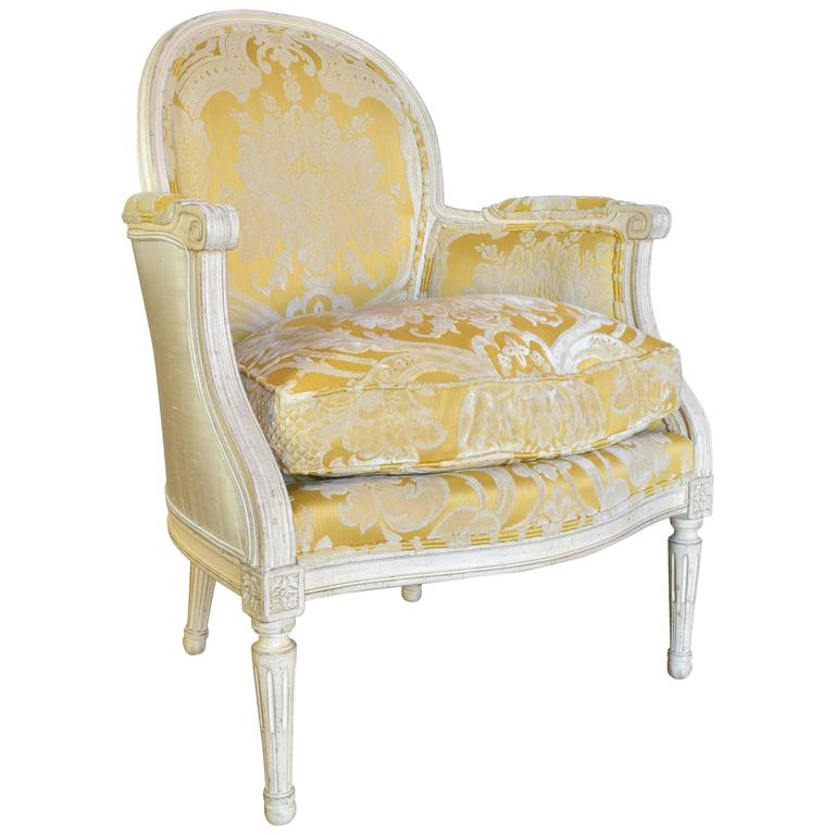 Baker Chair In The Style Of Louis XVI, 20th Century For Sale