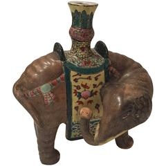 Chinese Elephant Candleholder