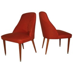 Pair of Very Particular Form Chairs Mid-Century Design