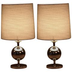 Charming Pair of Space Age Table Lamps Staff Leuchten, Germany, 1970