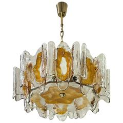 Kalmar Textured Orange Glass Chandelier