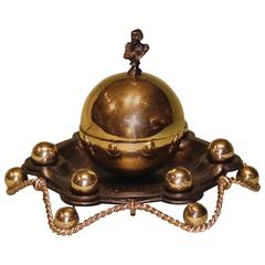 Mid-19th Century Bronze and Ormolu Inkwell with Napoleon Bust