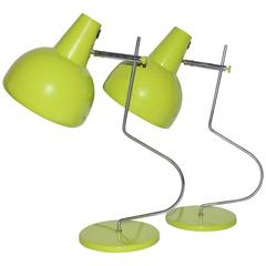 Pair of Mid-Century Design Lamp from Czech Republic Designed, Josef Hůrka, 1972