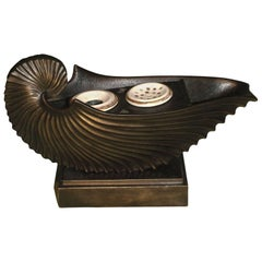 19th Century Bronze Nautilus Inkwell