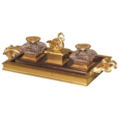 Antique bronze and ormolu pentray
