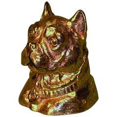 "19th Century Gilt-Bronze ""Bulldog"" Inkwell"
