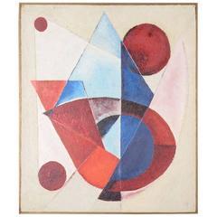 Painting, Rot-Blau Konstellation, 1963 by Eberhard Steneberg