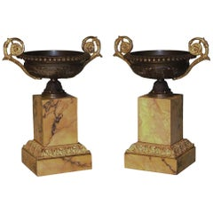 19th Century bronze and ormolu tazzas
