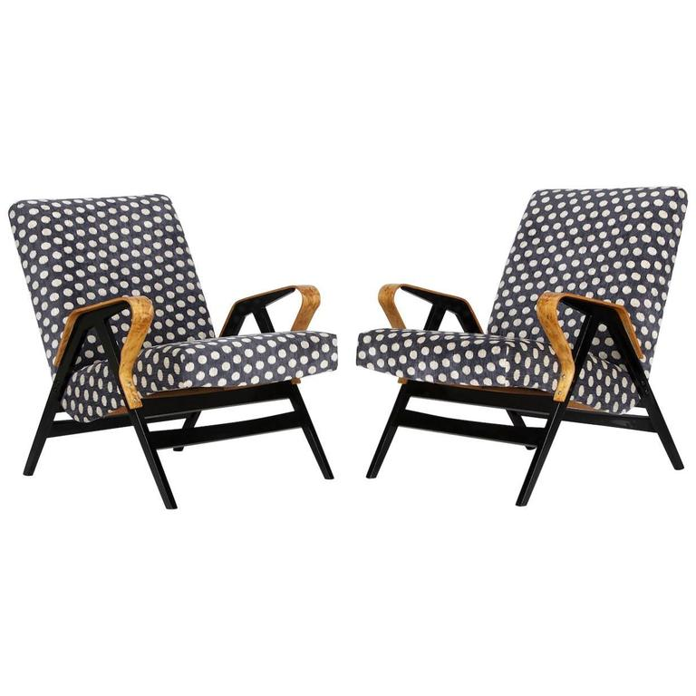 Mid-Century Armchairs from Tatra, 1960s, Set of Two