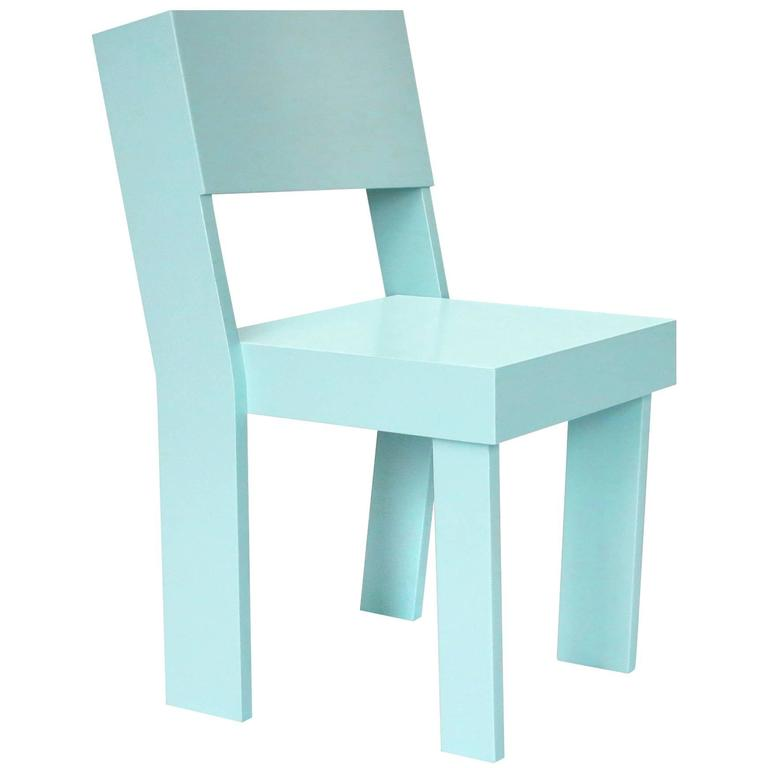 Kids Chair in Painted Birch Plywood by Tom Frencken