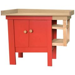 Dresser or Baby Changing Table by Tom Frencken in Painted Birch Plywood