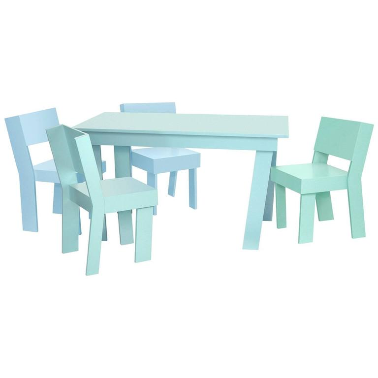 Kids Table by Tom Frencken in Painted Birch Plywood