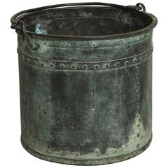 Verdigris Copper Vessel