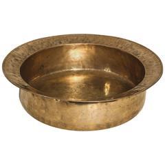 18th Century English Brass Dairy Bowl