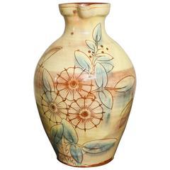 19th Century English Devonshire Art Pottery Glazed Pitcher