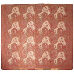 Late 19th Century Quilted Paisley