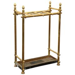 20th Century English, Brass and Iron Umbrella Stand