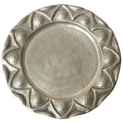 Alice & Eugene Chana,l French Art Deco Dinanderie Pewter Plate