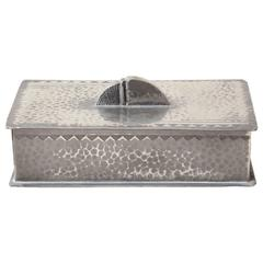 Rene Delavan French Art Deco Pewter Dinanderie Box