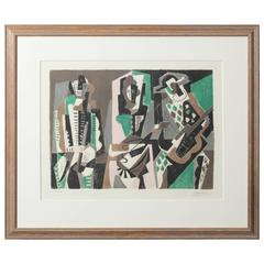 'Concert' by Gino Severini Lithograph in Colors
