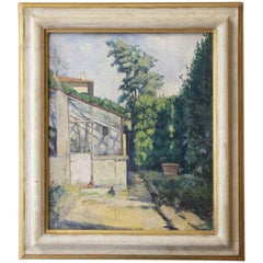 Italian Mid-20th Century Painting Depicting Garden View by Baccio Maria Bacci