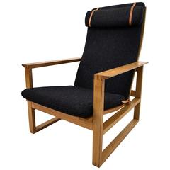 Mid Century Oak Lounge Chair by Børge Mogensen