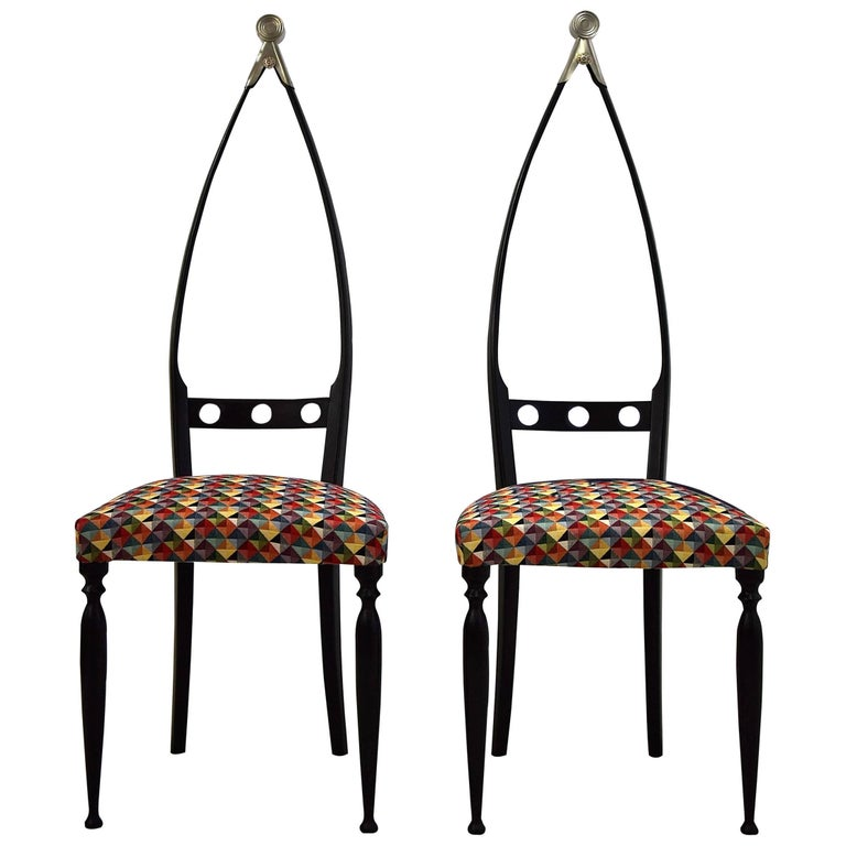 Mid century  Modern chairs by Pozzi and Verga For Sale