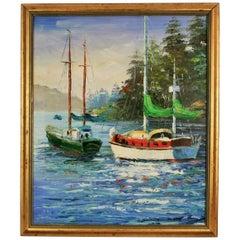 Sailing Greece Seascape Painting