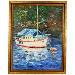 Sailing Greece 2 Seascape Painting