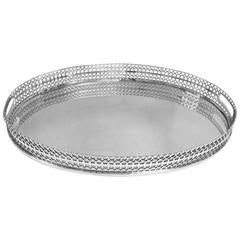 Tiffany, Sterling Silver Oval Gallery Tray