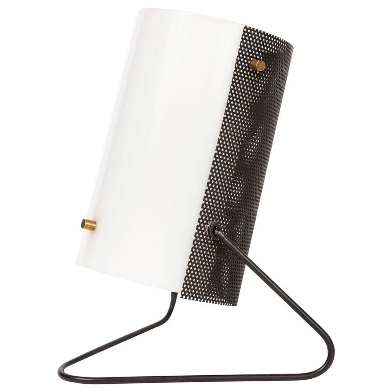 1960s Stilux Milano Perforated Metal Table Lamp