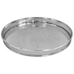Tiffany, Round Sterling Silver Gallery Tray