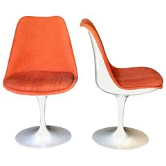 Pair of Saarinen Orange Swivel Chairs, 1960s