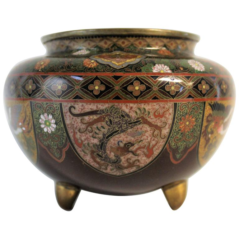 Japanese Meiji Period Cloisonne Bowl For Sale