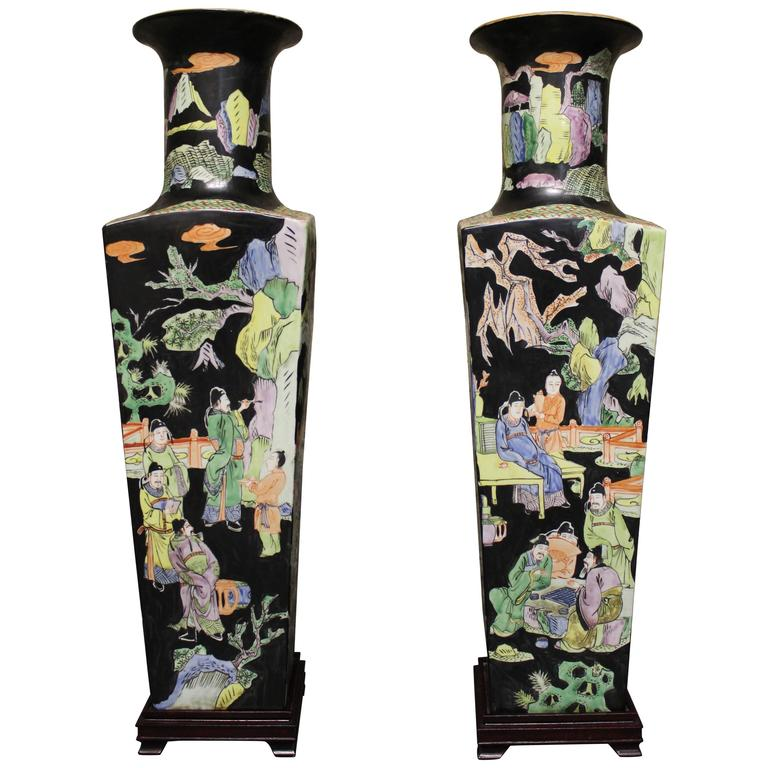 Large Pair of Chinese Porcelain Vase's