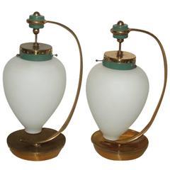 Original Mid-Century Italian Design Table Lamp, 1950s