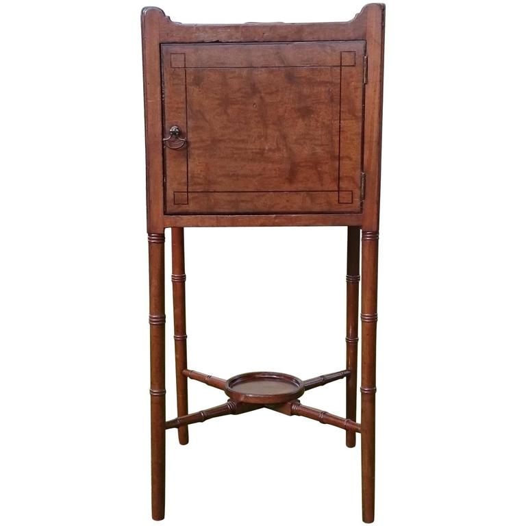 18th Century George III Period Mahogany Bedside Cupboard For Sale