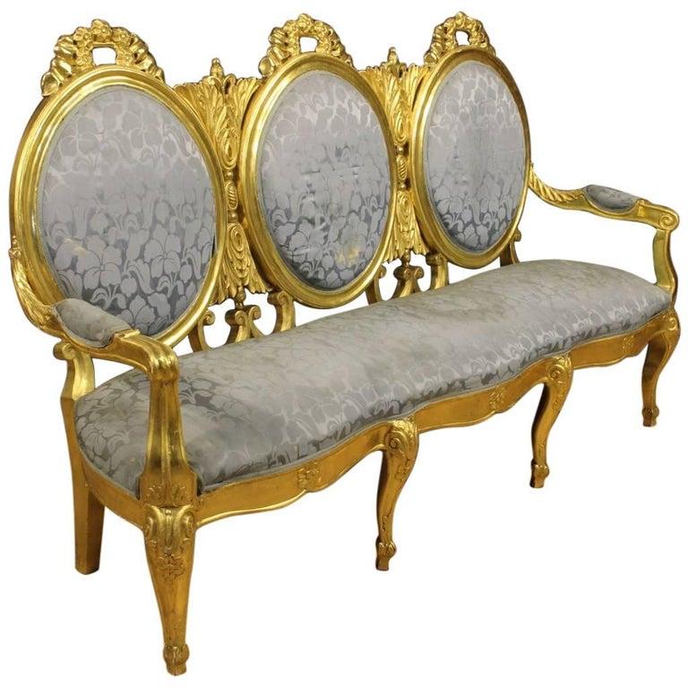 20th Century Italian Golden Sofa