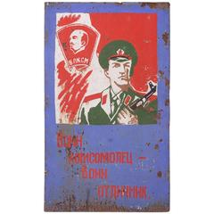Russian Military Propaganda on Sheet Steel