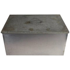 Stainless Steel and Galvanized Tin Industrial Storage Box